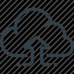 arrow, cloud, data, download, storage icon