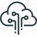 cloud, computer, data, storage, technology icon