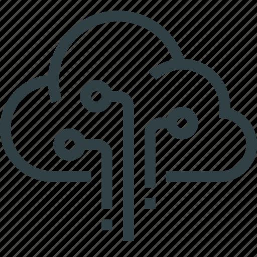 cloud, computer, data, storage, technology icon