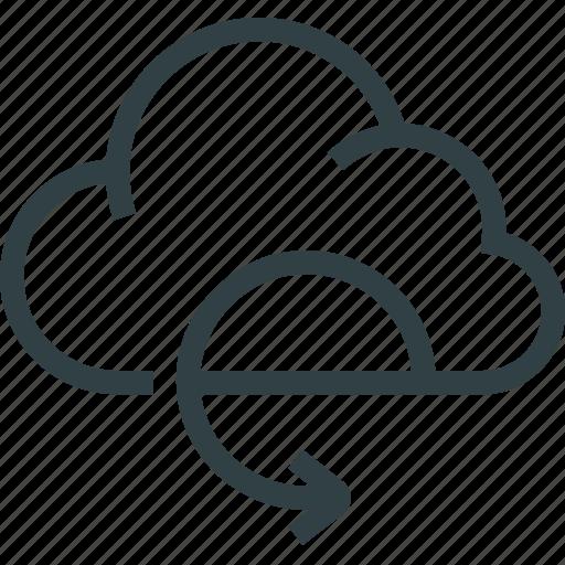 arrow, cloud, data, storage icon