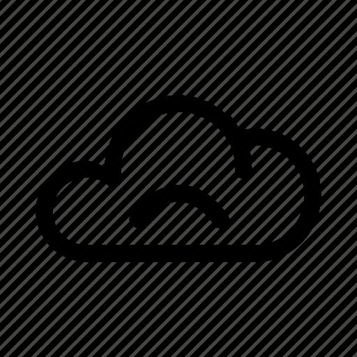 big, cloud, data, database, online, sad, storage icon