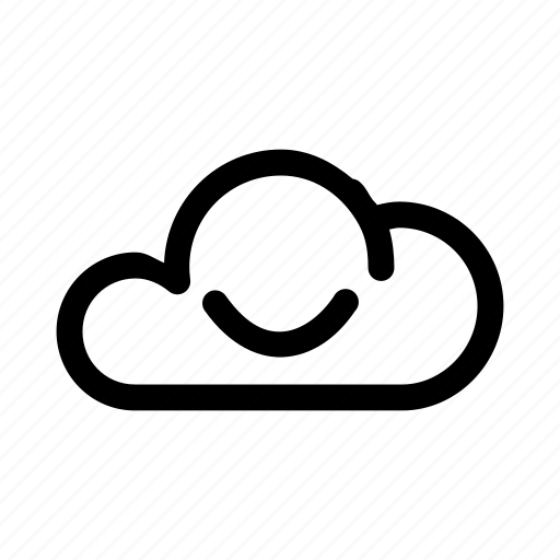 big, cloud, data, database, online, smile, storage icon