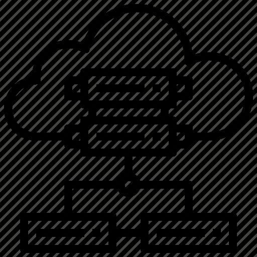cloud, computer, computing, data, hosting, internet, server icon