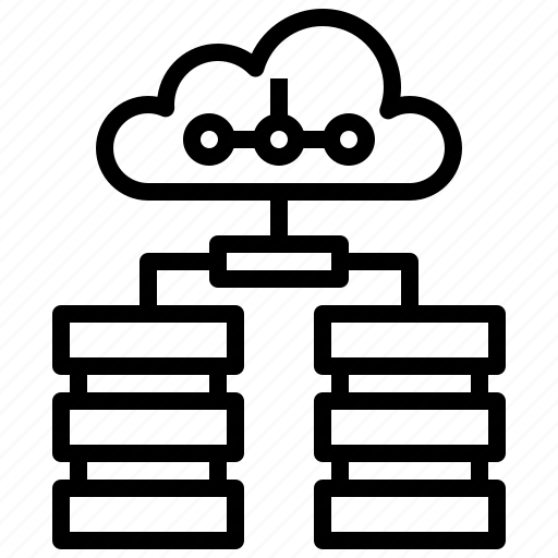 cloud, cloudy, computing, database, sky, weather icon