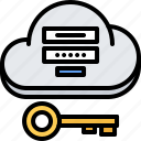 cloud, key, login, password, repository, storage, technology icon