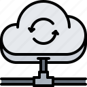 cable, cloud, connection, repository, storage, technology icon