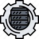 cloud, gear, optimization, repository, server, storage, technology icon