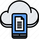 cloud, file, phone, repository, storage, technology, upload icon