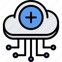 cloud, information, pool, repository, storage, technology icon