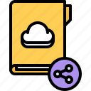 cloud, file, folder, repository, sharing, storage, technology icon