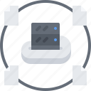 cloud, file, repository, server, storage, technology icon