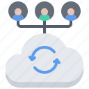 cloud, man, repository, sharing, storage, technology, user icon