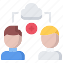 access, cloud, general, repository, sharing, storage, technology icon