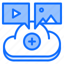 cloud, media, picture, repository, storage, technology, video icon
