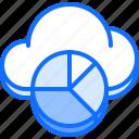 chart, cloud, pie, repository, statistics, storage, technology icon