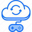 cloud, game, gamepad, repository, storage, technology, video