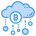 bitcoin, cloud, database, server, storage, technology icon