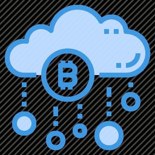 bitcoin, cloud, database, server, storage, technology icon
