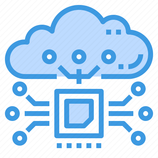 chip, cloud, database, maintainance, server, storage, technology icon