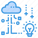 cloud, creative, database, innovation, server, storage, technology icon