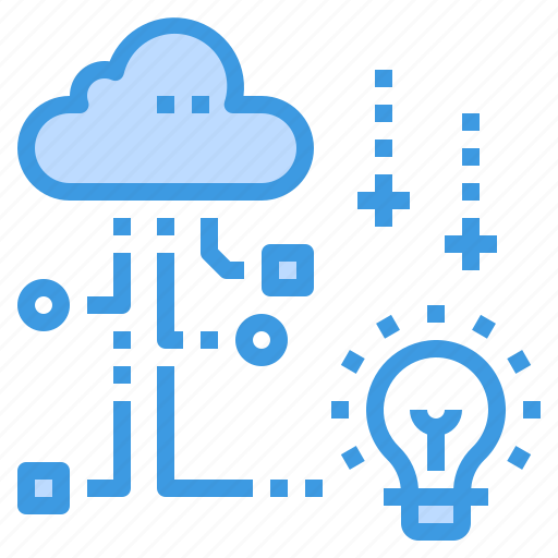 cloud, creative, database, innovation, server, storage, technology icon