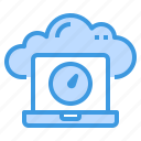 cloud, database, laptop, server, storage, technology icon