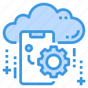 cloud, database, mobile, server, setting, storage, technology icon