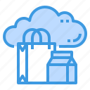business, cloud, database, server, shopping, storage, technology icon