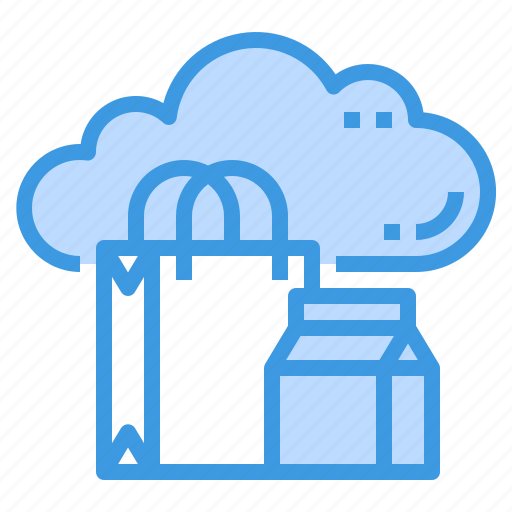 business, cloud, database, server, shopping, storage, technology icon