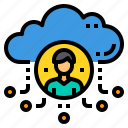 administrator, cloud, database, server, storage, technology icon