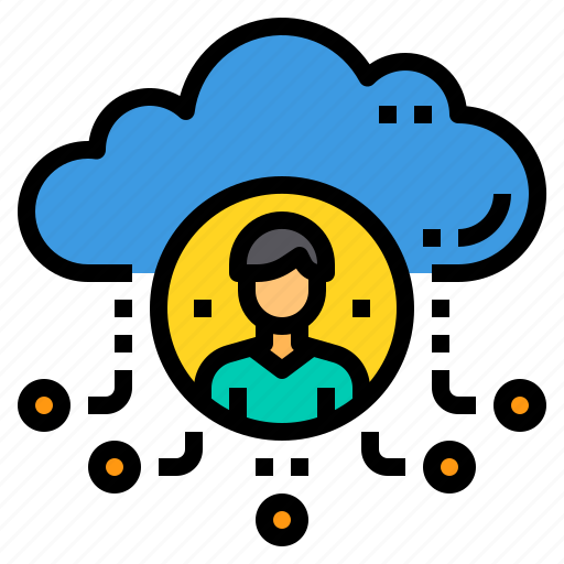 administrator, cloud, database, server, storage, technology icon
