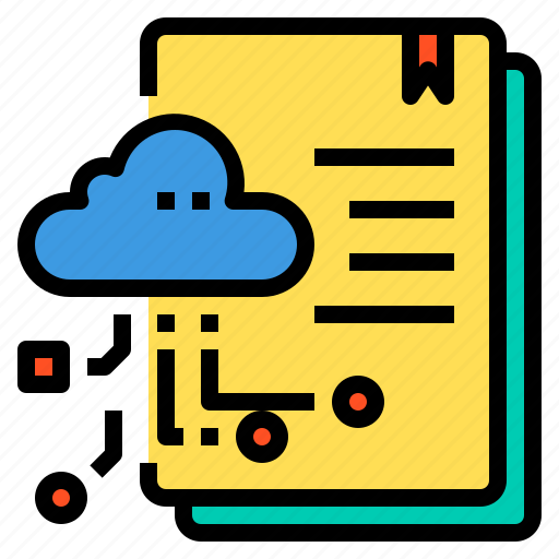 cloud, database, doccument, file, server, storage, technology icon