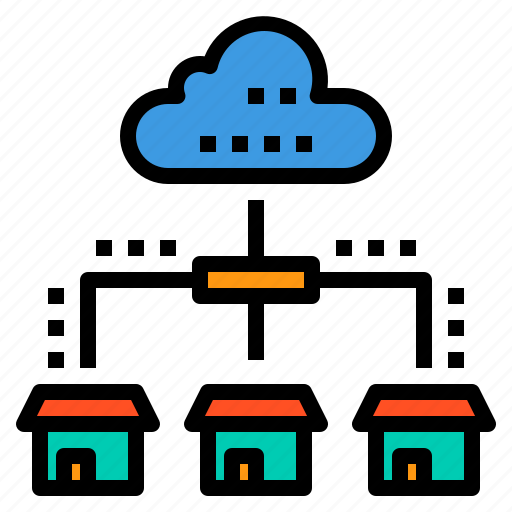 cloud, database, home, server, storage, technology icon