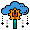cloud, database, maintainance, server, storage, technology icon