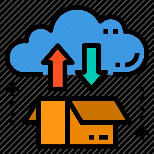 cloud, database, server, storage, technology icon