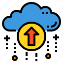 cloud, database, server, storage, technology, upload icon