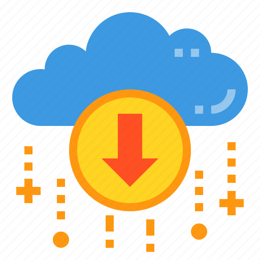 cloud, database, download, server, storage, technology icon