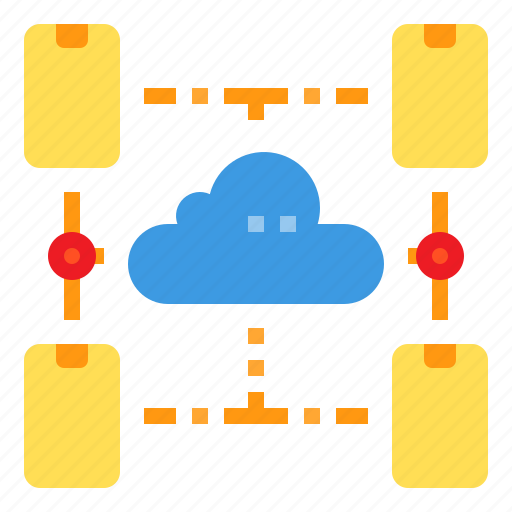 cloud, connection, database, mobile, server, storage, technology icon