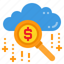 business, cloud, database, search, server, storage, technology icon