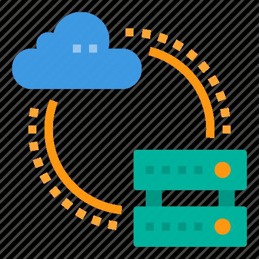 cloud, database, server, storage, technology, transfer icon