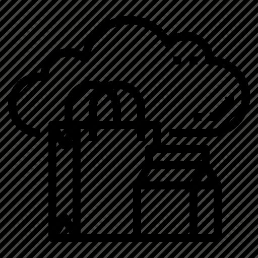 cloud, database, marketting, server, shopping, storage, technology icon