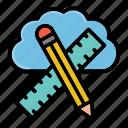 architecture, cloud, computing, design, pencil, progessing, ruler