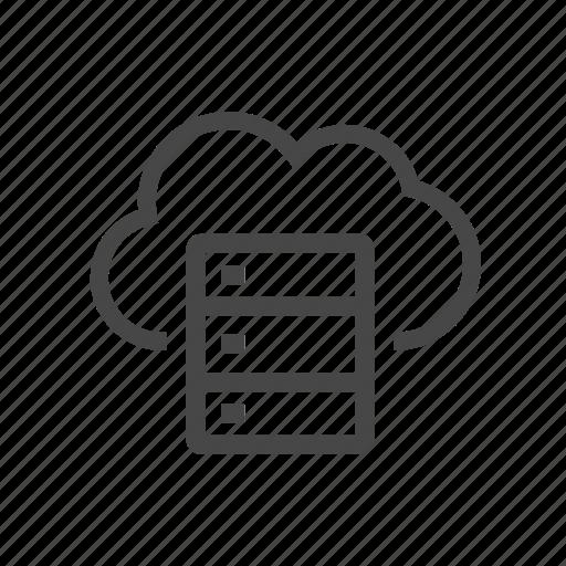 cloud, data, storage, technology icon