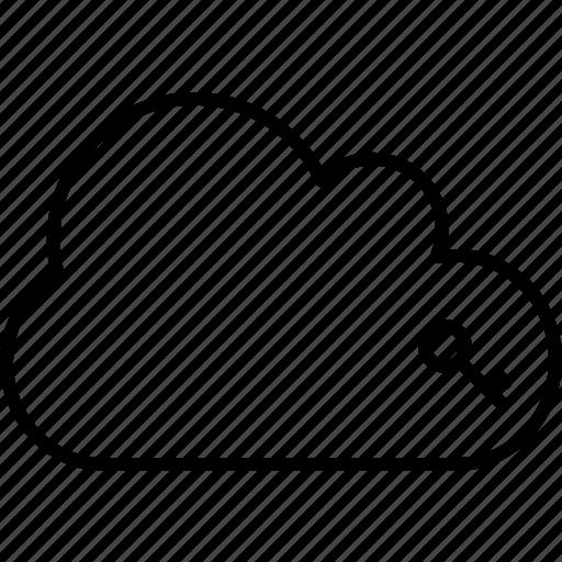 application, cloud, key, lock, open, unlock icon