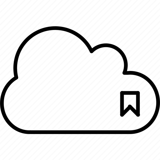 application, badge, bookmark, cloud, flag, save icon