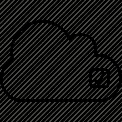 application, box, check, check-box, choose, cloud, select icon