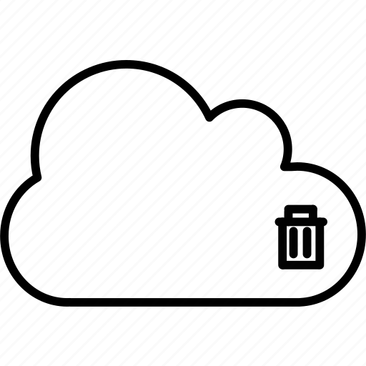 application, can, cloud, delete, trash icon