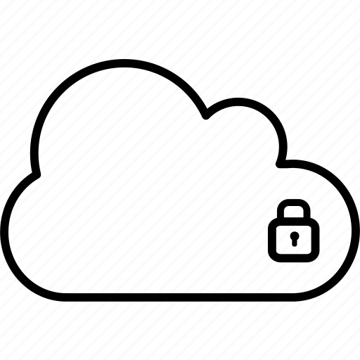 application, closed, cloud, lock, secure, security, unsecure icon