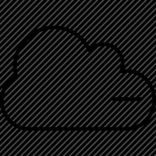 application, cloud, delete, remove icon
