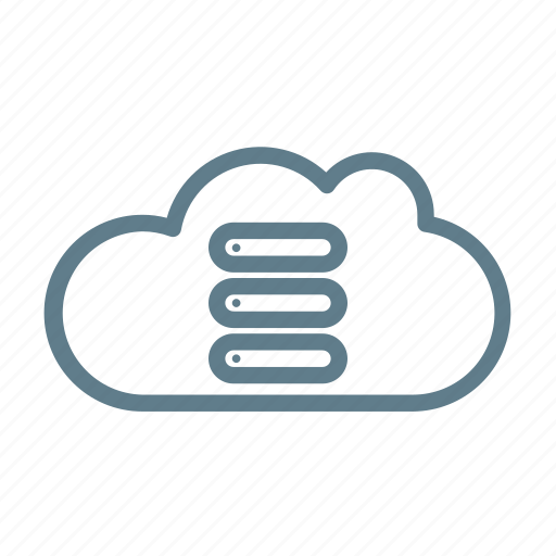 cloud, cloud service, cloud storage, data cloud, database, library cloud icon